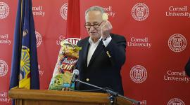U.S. Sens. Charles Schumer and Kristen Gillibrand on Thursday announced $1.4 million in U.S. Department of Transportation funding for Cornell University to continue leading the Transportation, Environment, and Community Health Center.