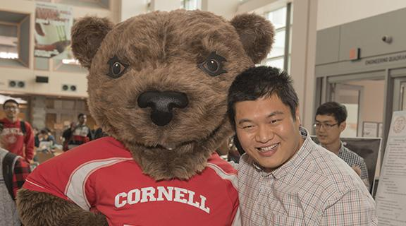 Professor You with the Cornell bear